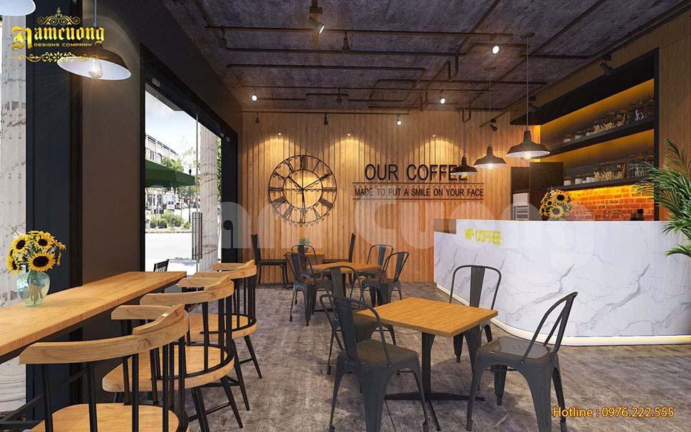 thiết kế nội thất quán cafe ở hải phòng