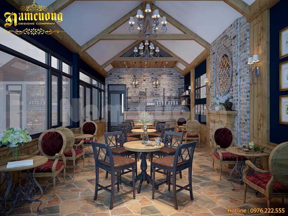 nội thất cafe tân cổ điển