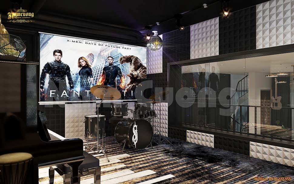 Thiết kế phòng nhạc tại gia