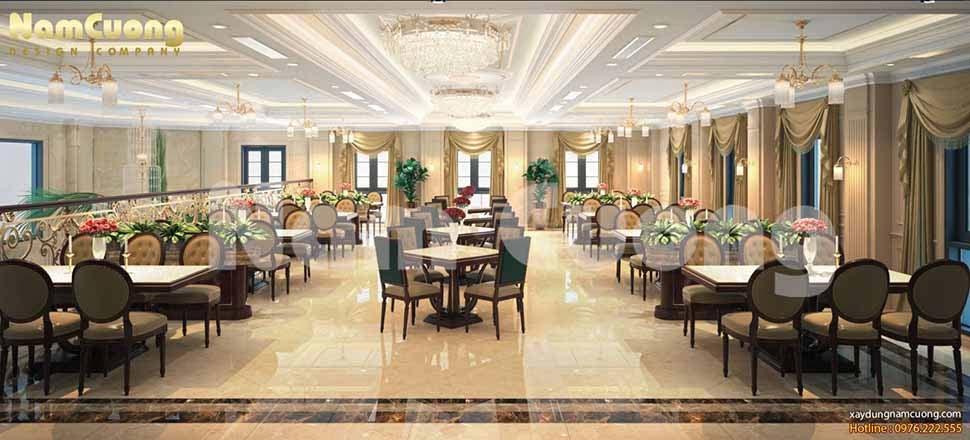 nội thất nhà hàng đẹp ở hải phòng