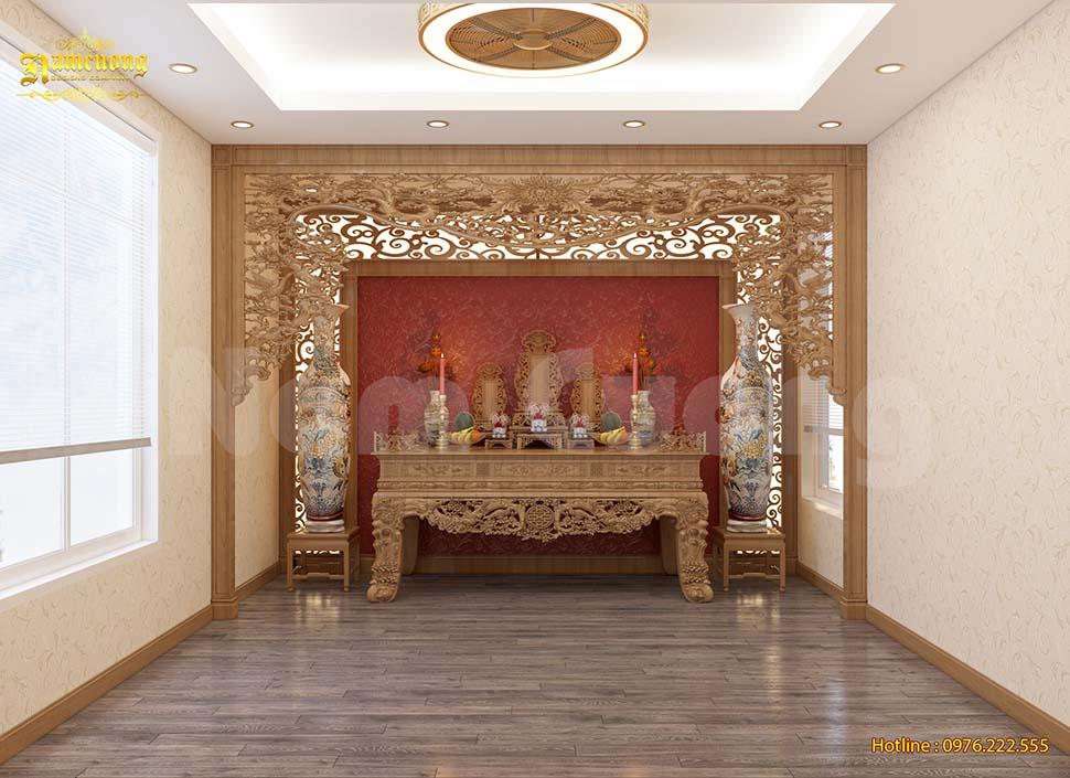 thiết kế phòng thờ