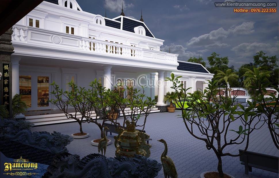 kiến trúc biệt thự sân vườn