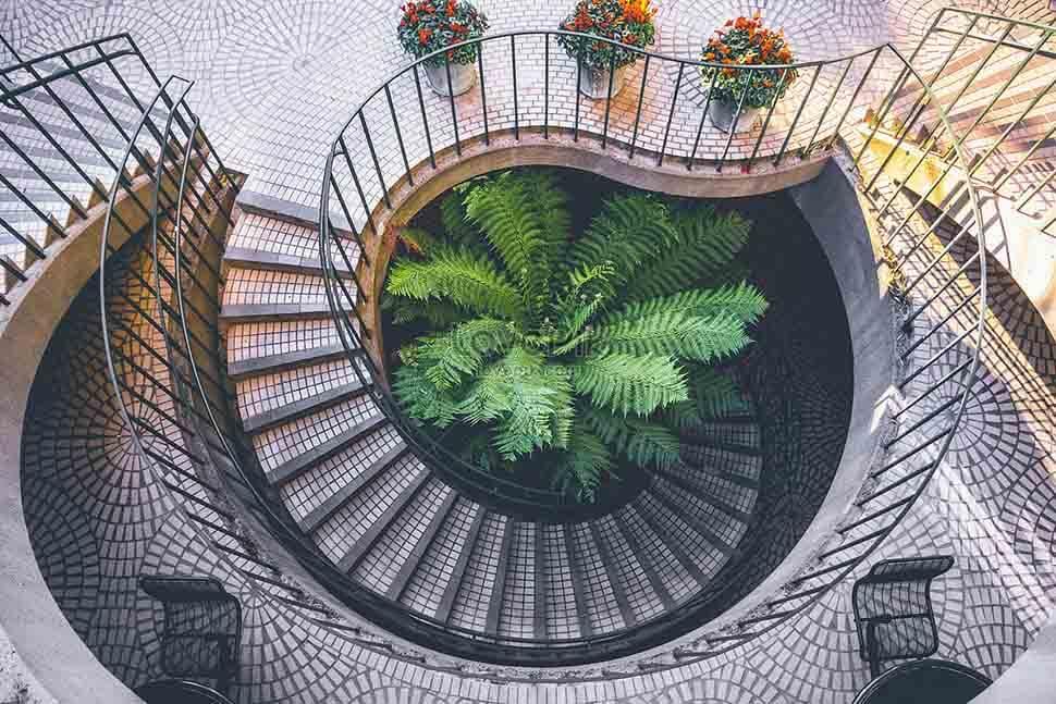 Cầu thang xoắn là loại cầu thang ít gặp