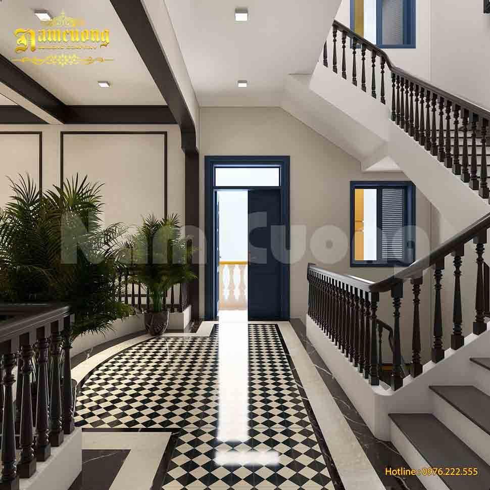 Cầu thang gỗ vô cùng thông dụng trong thiết kế nhà ở
