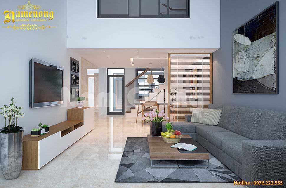 Ghế sofa góc chữ L phù hợp để đặt trong không gian nhà phố