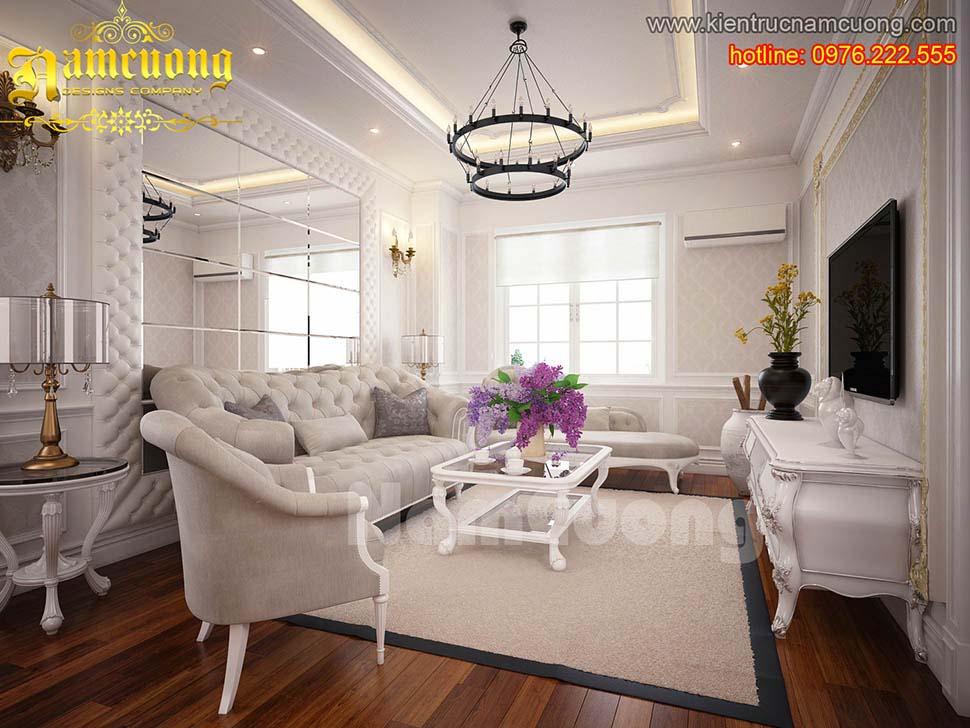 Ghế sofa tân cổ điển thường khá mềm mại, uyển chuyển