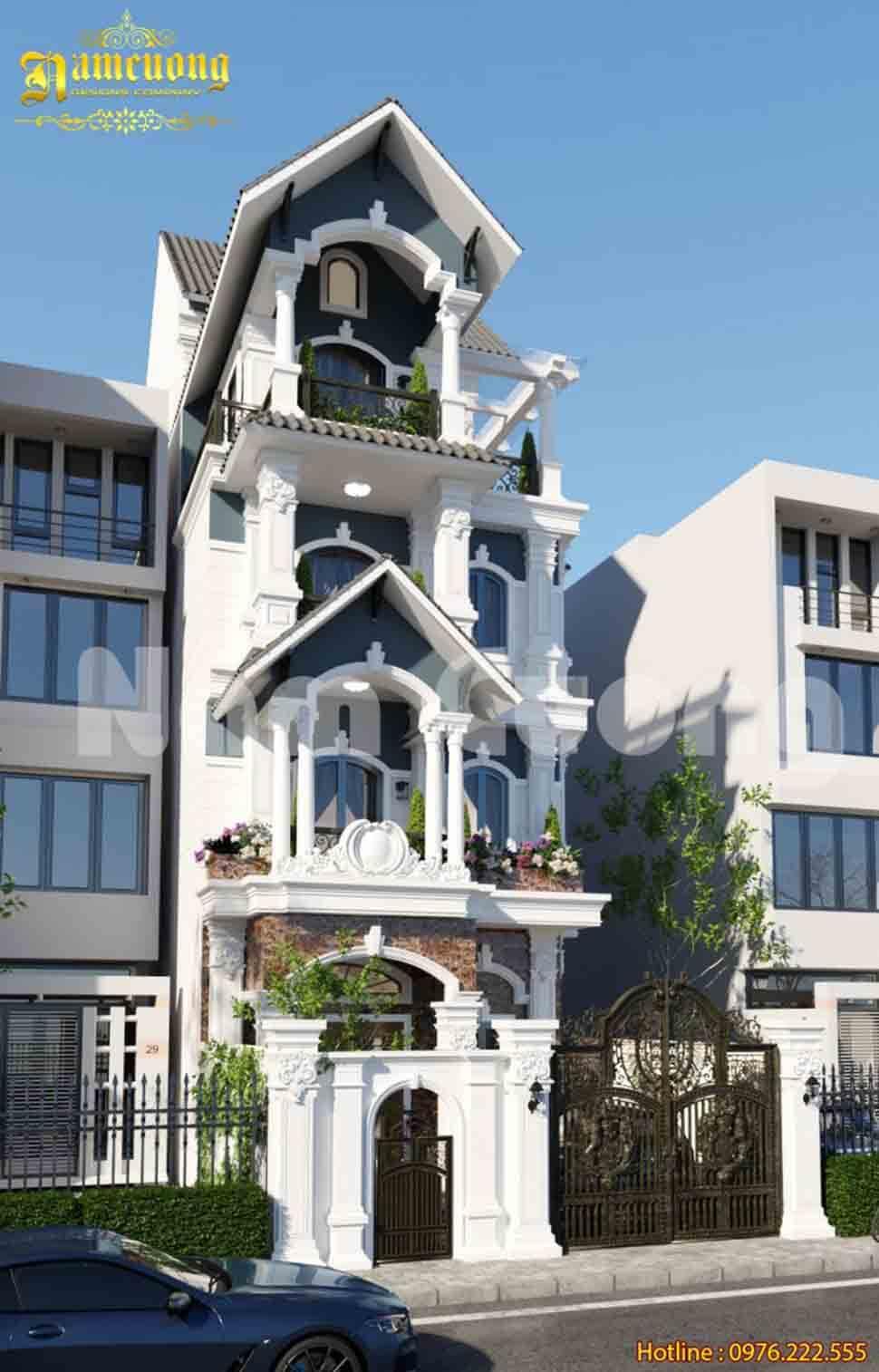 Cổng biệt thự kiểu Pháp làm từ chất liệu Nhôm đúc