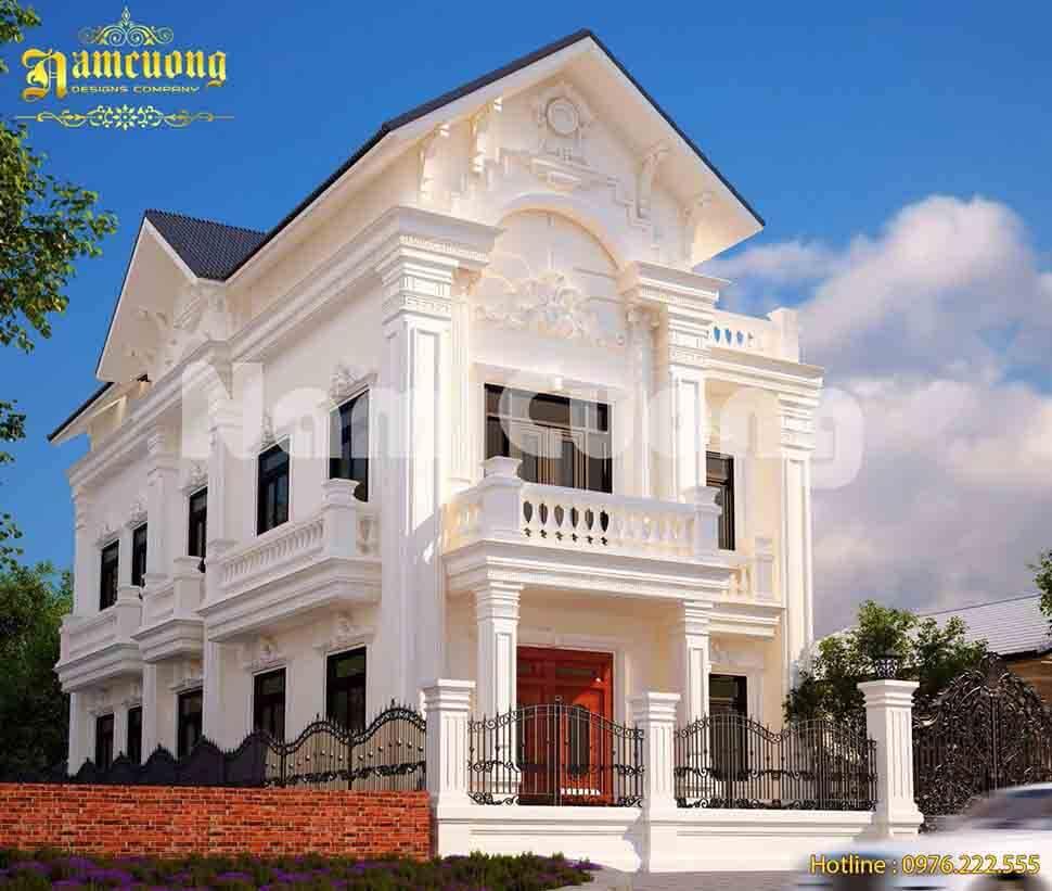 Mẫu thiết kế hàng rào biệt thự mái Thái