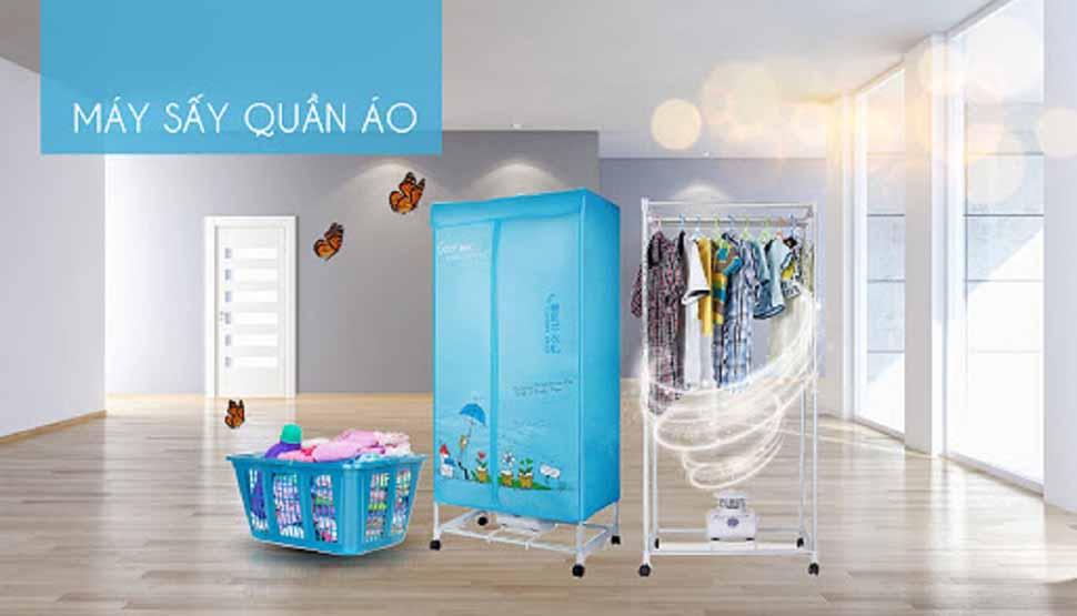 Sử dụng máy sấy là phương pháp giảm nồm ẩm hiệu quả