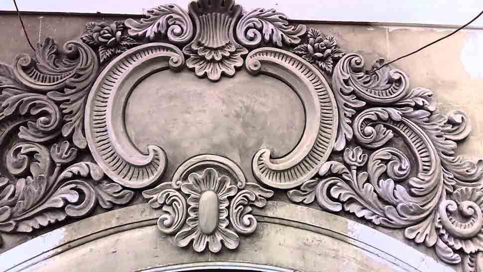 Phù điêu xi măng sử dụng chủ yếu trong trang trí nhà phố, khách sạn