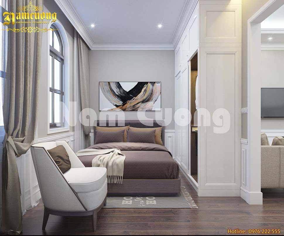 thiết kế phòng ngủ nhỏ 3m2 nên lựa chọn gạch nền kích thước nhỏ