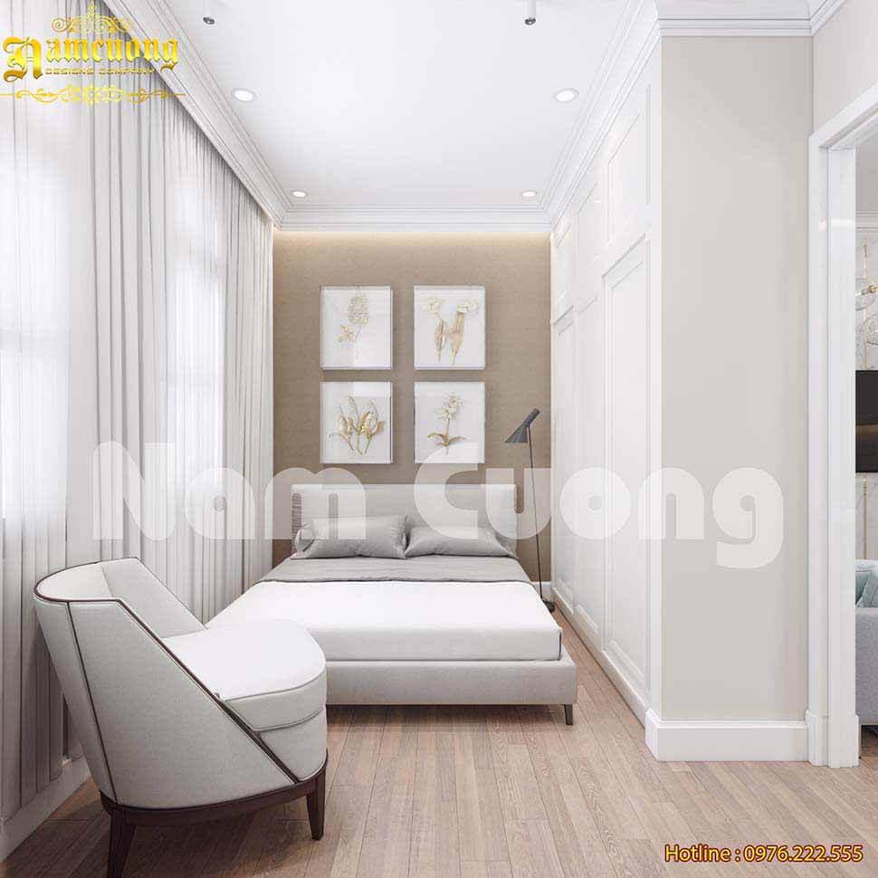 Gam màu sáng giúp căn phòng thêm rộng