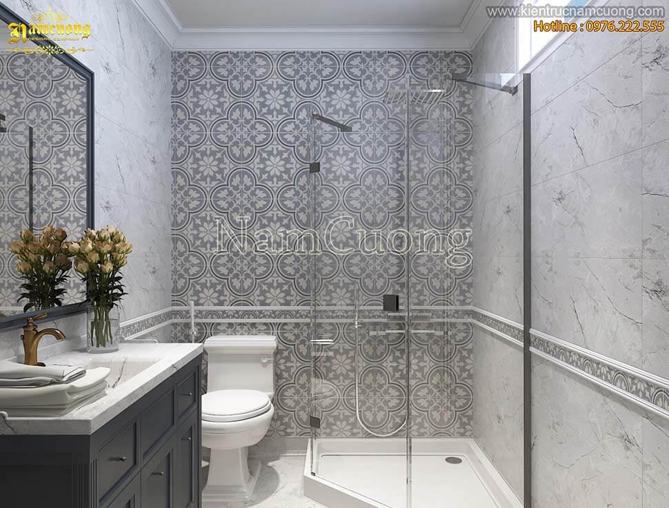 Chất liệu gỗ cứng không phù hợp để lát sàn phòng tắm