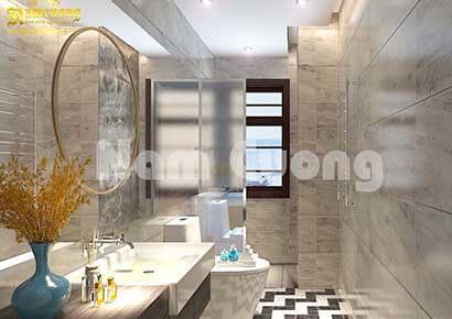 Vật liệu gạch lát sàn phòng tắm rất đa dạng