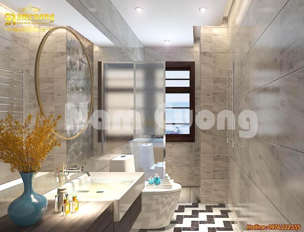 Lựa chọn kích thước viên gạch lát nền nên phụ thuộc vào diện tích phòng tắm