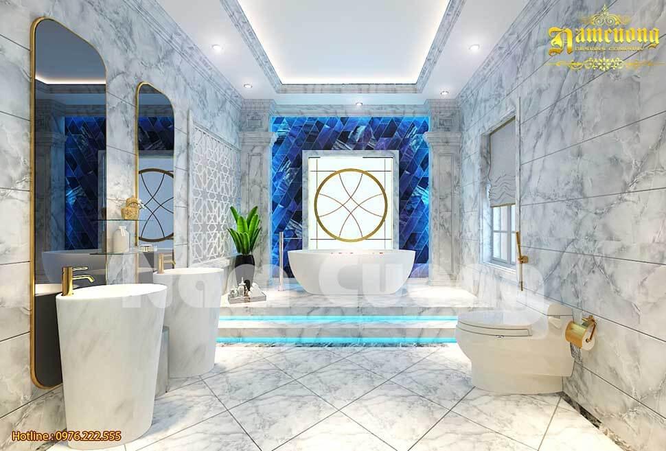 Gạch lát nền phòng tắm có nhiều vật liệu cho khách hàng lựa chọn