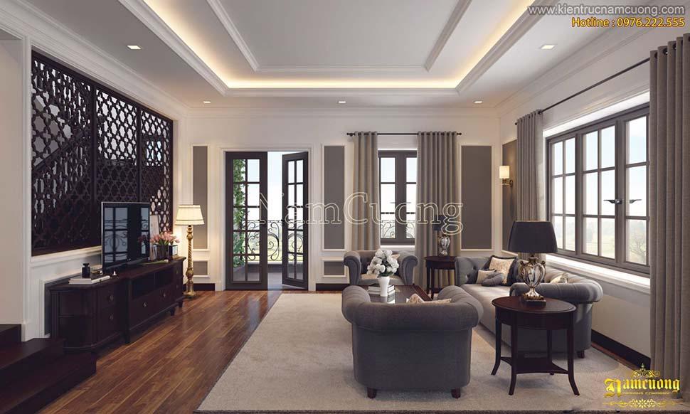 Ốp gỗ veneer phòng khách được nhiều gia chủ lựa chọn