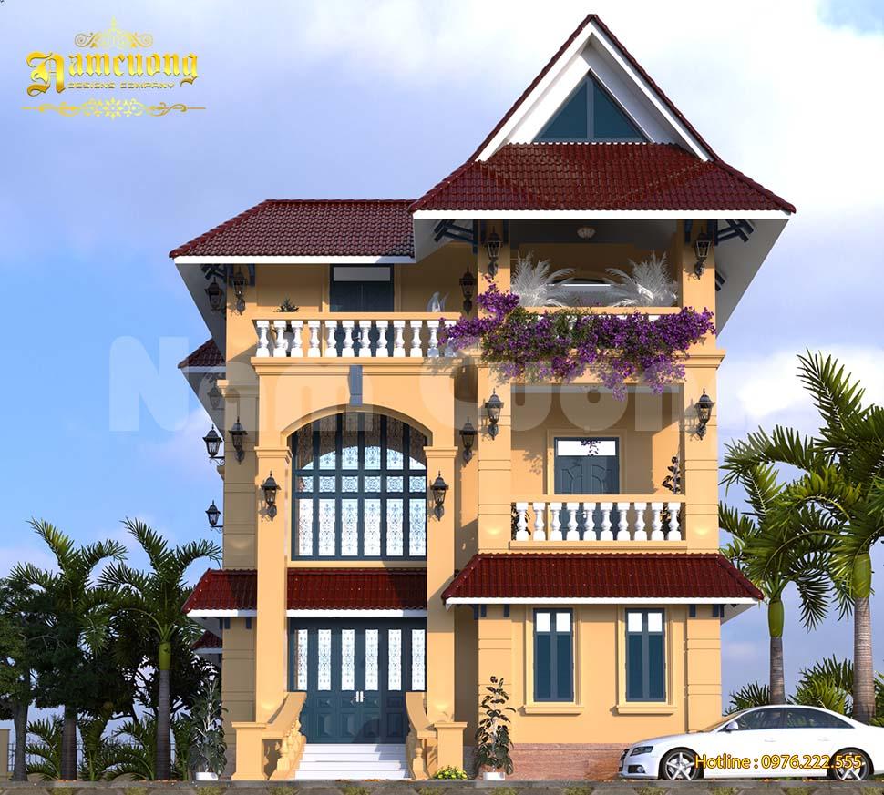 Cửa nhà biệt thự Đông Dương đẹp