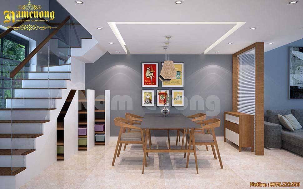 Khoảng thông tầng giúp căn nhà lấy sáng tốt, lưu thông không khí