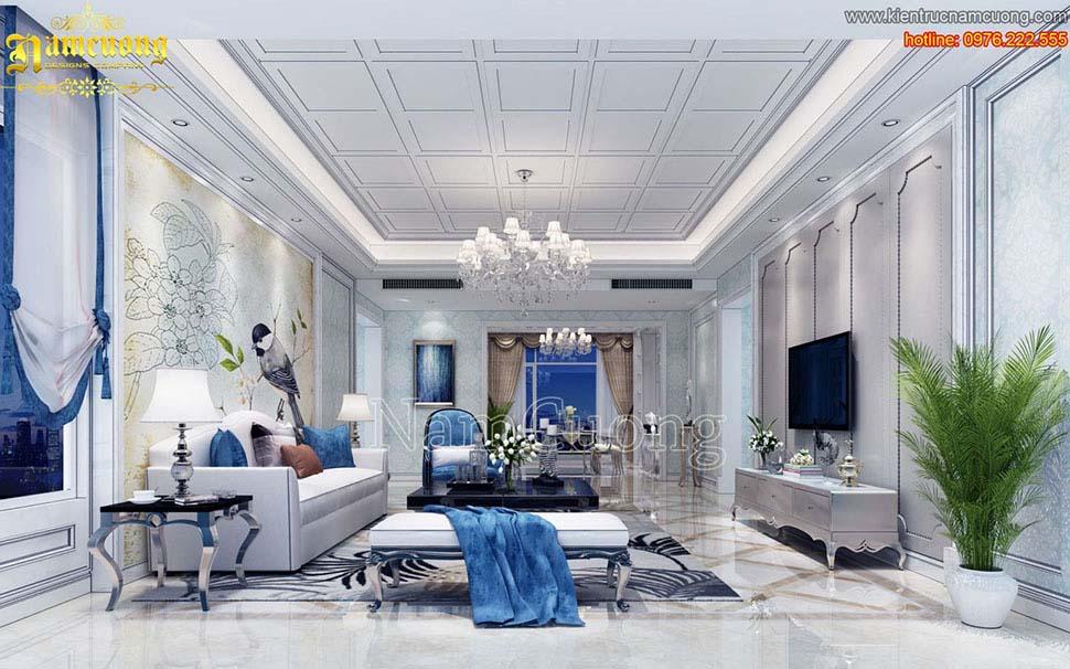 Rèm voan trang trí giúp phòng khách thêm xinh