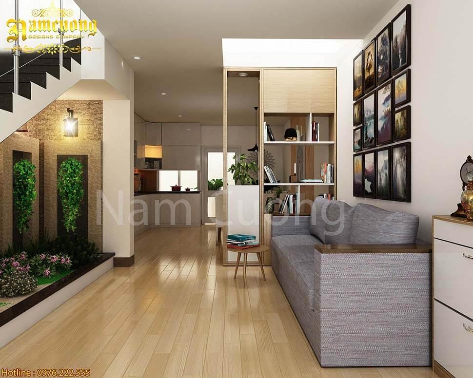 Lựa chọn vách ngăn phòng khách cần chú ý đến diện tích phòng