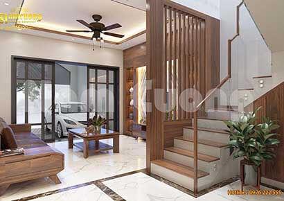 Thiết kế vách ngăn trang trí phòng khách đẹp
