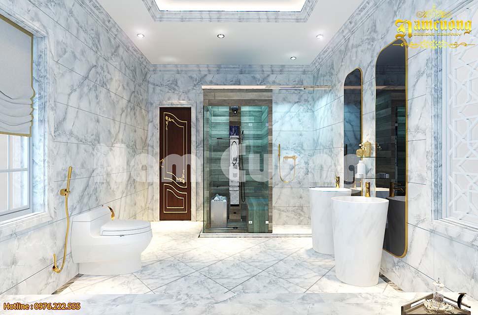 WC lát đá hoa cường