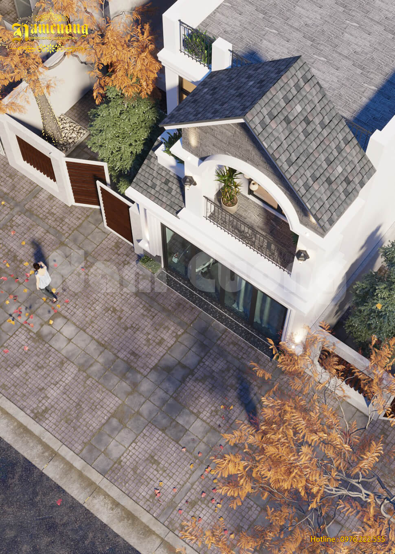 nhà phố 2 tầng có sân thượng