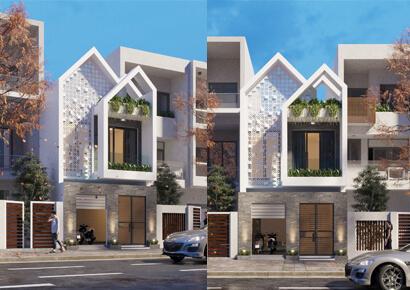 thiết kế nhà phố 2 tầng ngang 6m