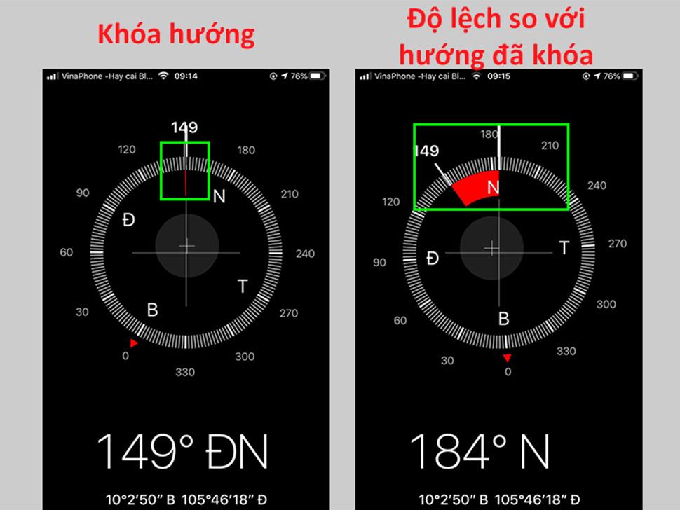 xách định hướng nhà bằng Iphone