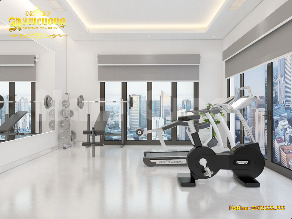 không gian phòng tập gym