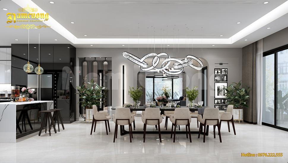 phòng ăn biệt thự đẹp