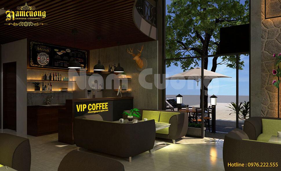 Nội thất quán cafe hiên đại