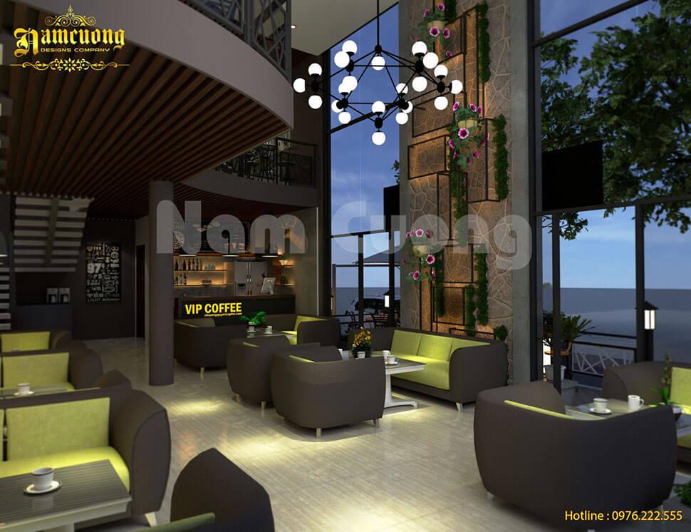 cafe không gian xanh