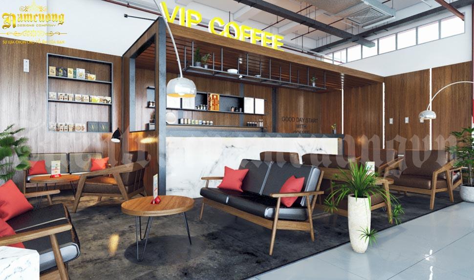 bố trí nội thất quán cafe nhỏ