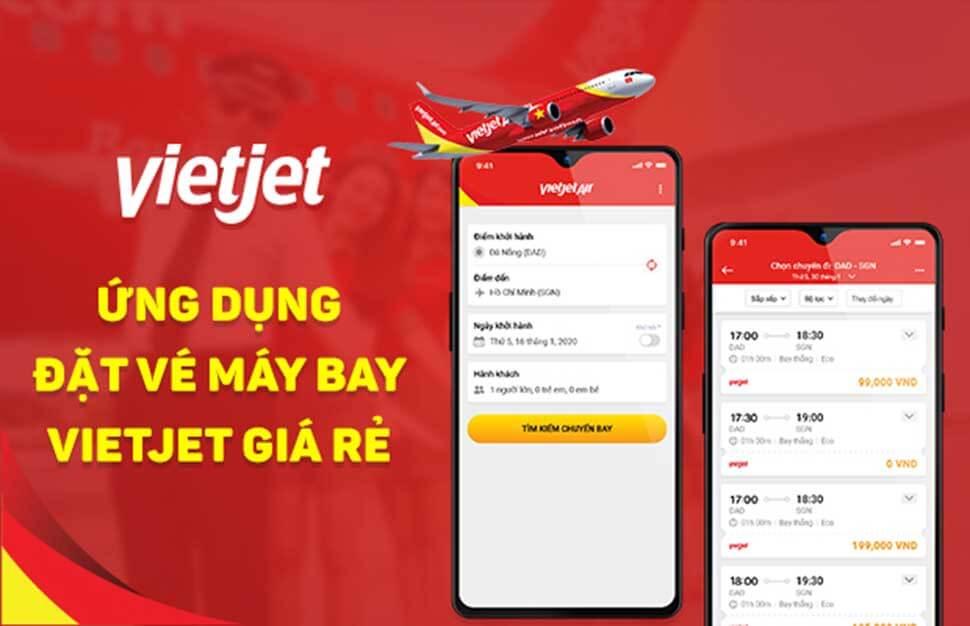 VietJet Air là website đặt vé máy bay trực tuyến của hãng hàng không VietJet Air