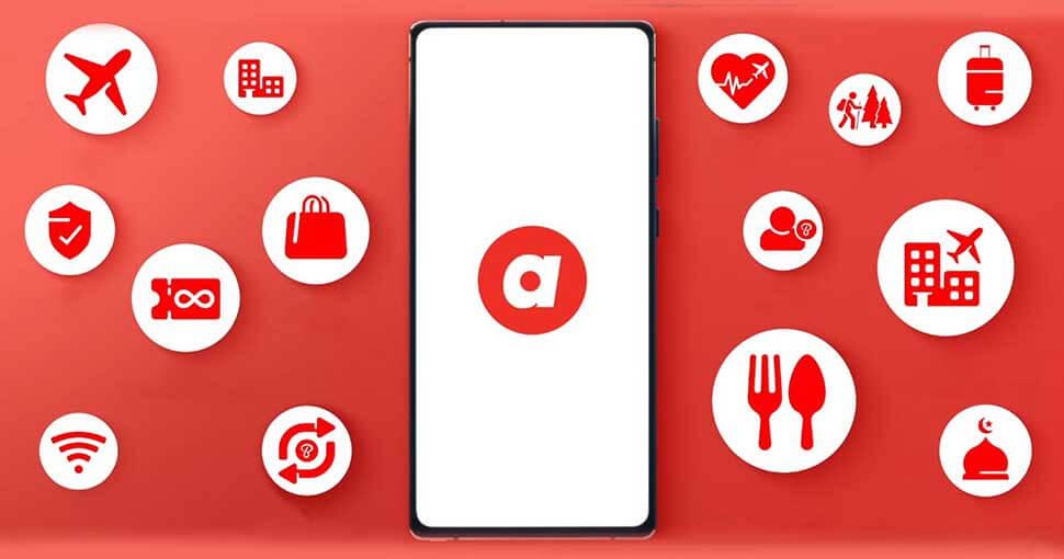 AirAsia là app đặt vé máy bay trực tuyến của hãng hàng không AirAsia
