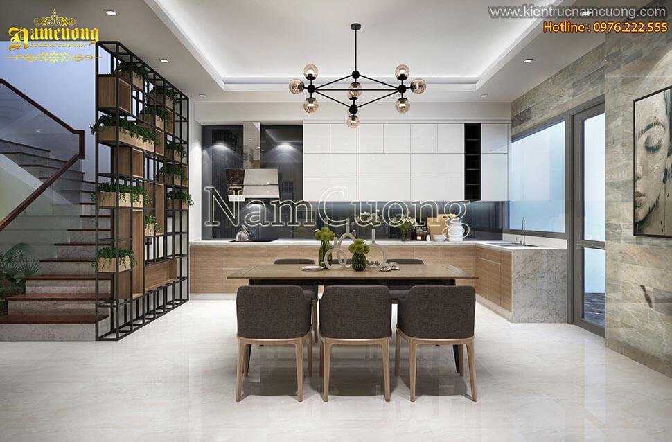 thiết kế phòng bếp nhà hướng tây nam