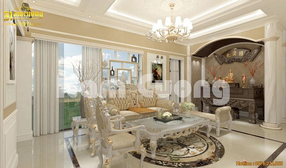 thiết kế bàn thờ phòng khách