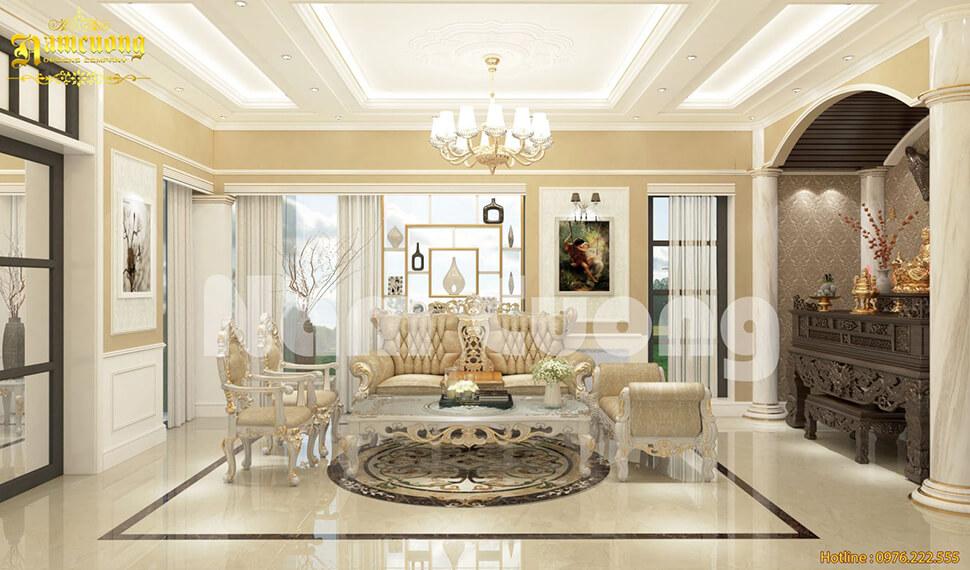 thiết kế không gian phòng khách đẹp