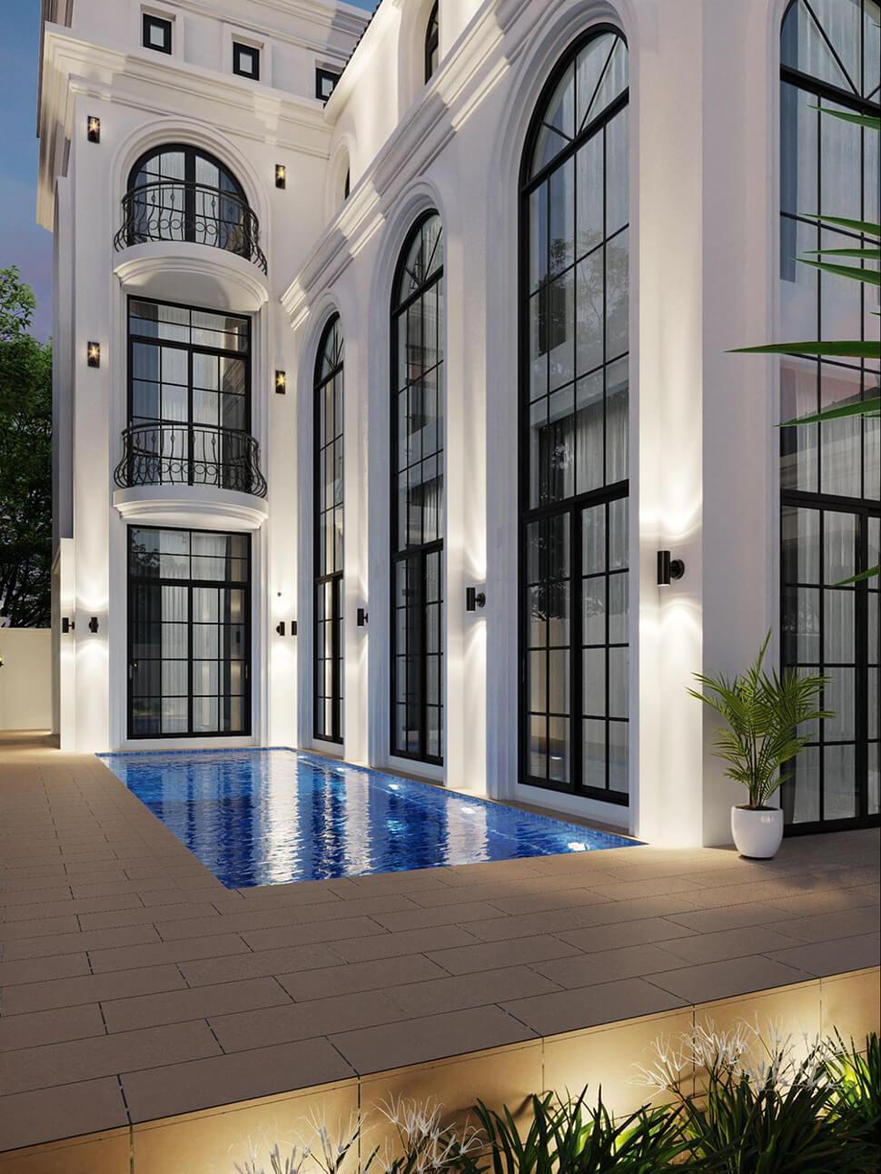 thiết kế hồ bơi ngoài trời