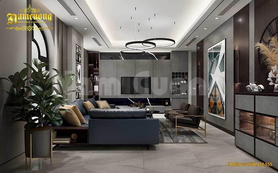 mẫu trần thạch cao phòng khách hiện đại đẹp