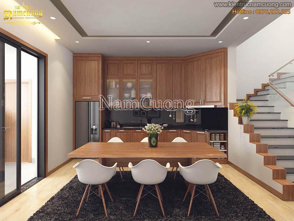 nội thất phòng bếp bằng gỗ