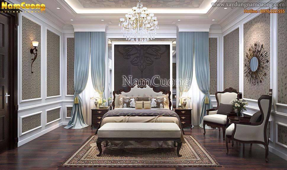 phòng ngủ bằng gỗ