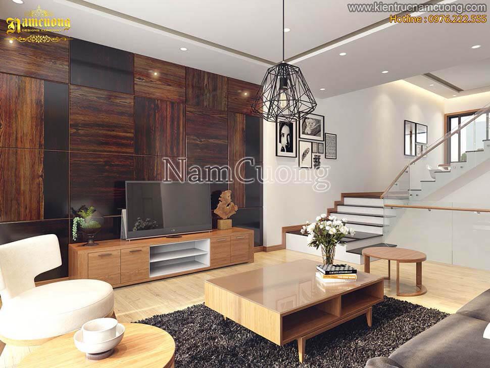 Thiết kế nội thất gỗ phòng khách