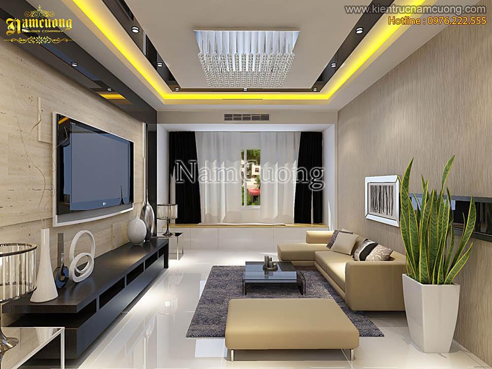 phòng khách đơn giản hiện đại