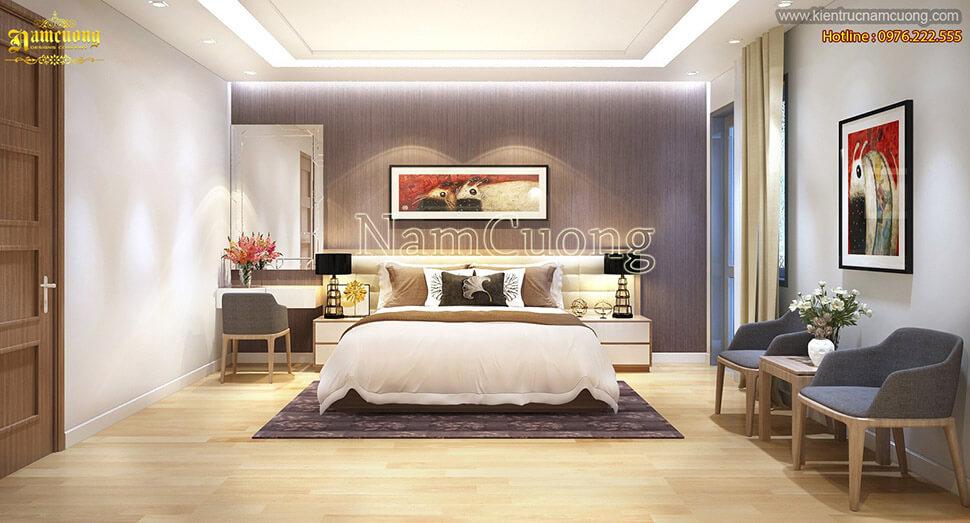 thiết kế phòng ngủ nhà phố 3 tầng hiện đại