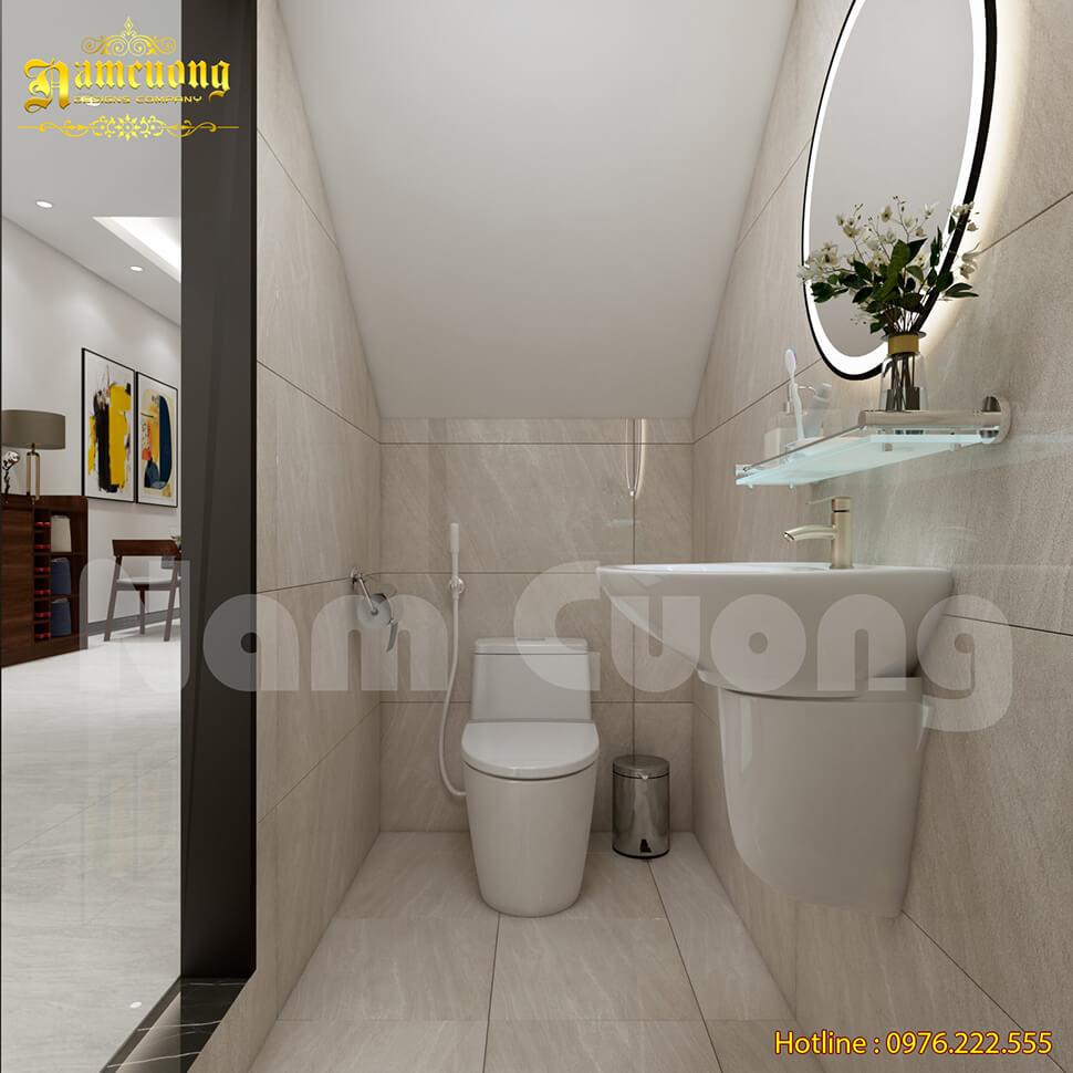 nội thất WC nhà phố hiện đại