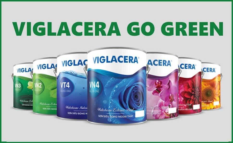 Các dòng sản phẩm sơn của Viglacera rất đa dạng