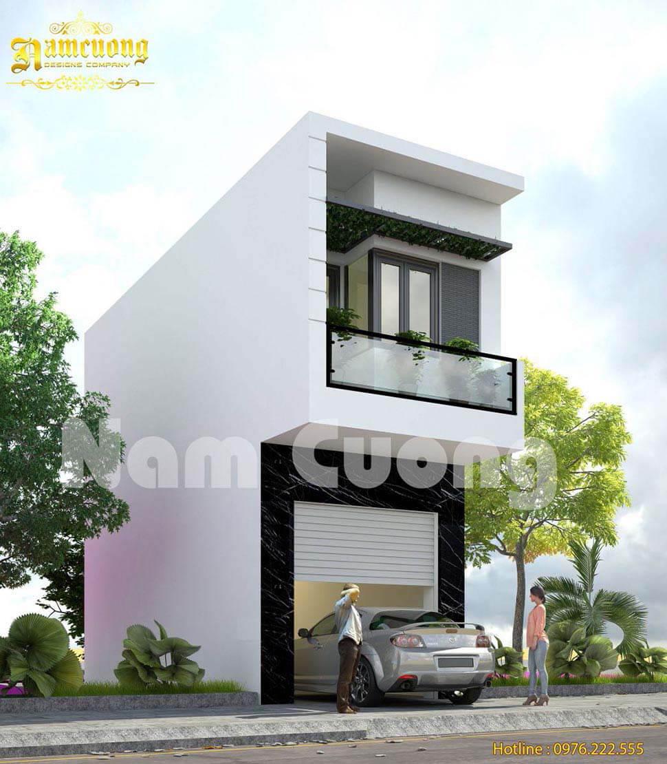 thiết kế nhà 2 tầng hiện đại